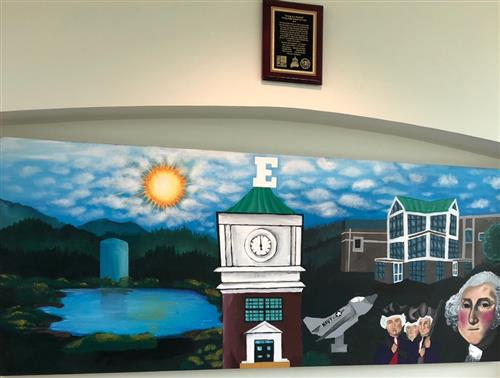 "IMMEDIATE RELEASE:  Ewing Township Unveils ""Ewing in a Nutshell"" Mural at Municipal Building"