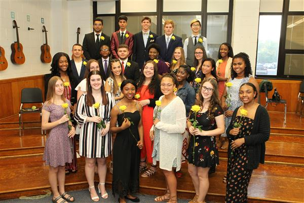IMMEDIATE RELEASE:  Ewing High School Inducts National Honor Society Members