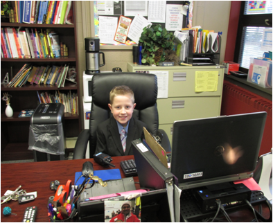 Principal for the Day, Joel Parsons!