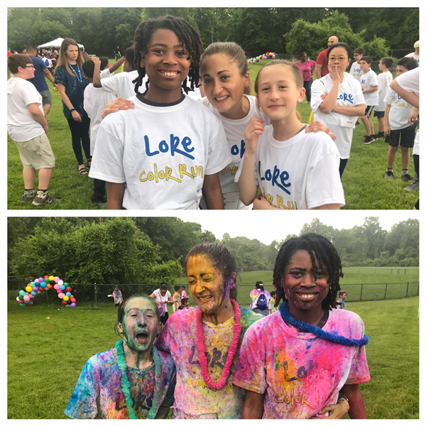 Students participate in the LPA Color Run and Family Festival
