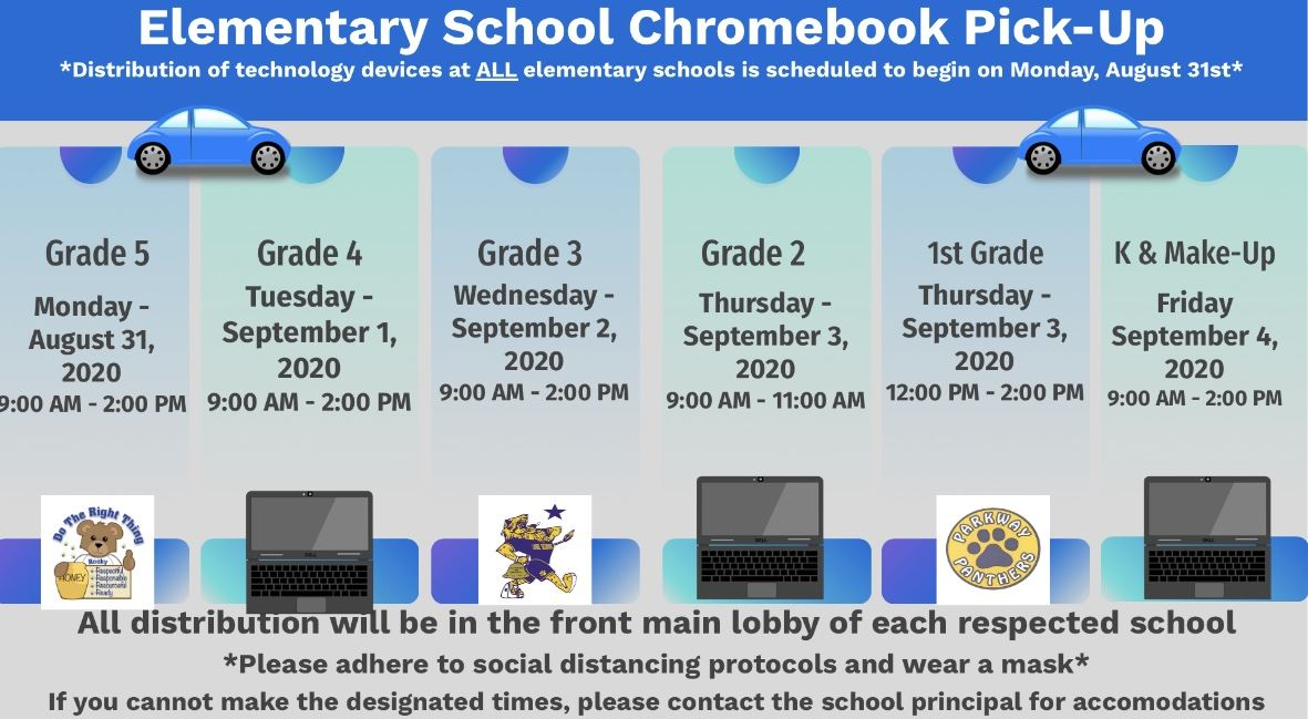 Elementary Schools Technology Device Pick-up Information