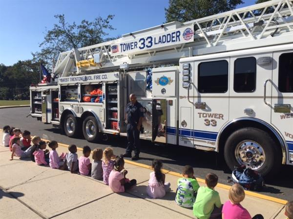 West Trenton Fire Dept. visits Lore!