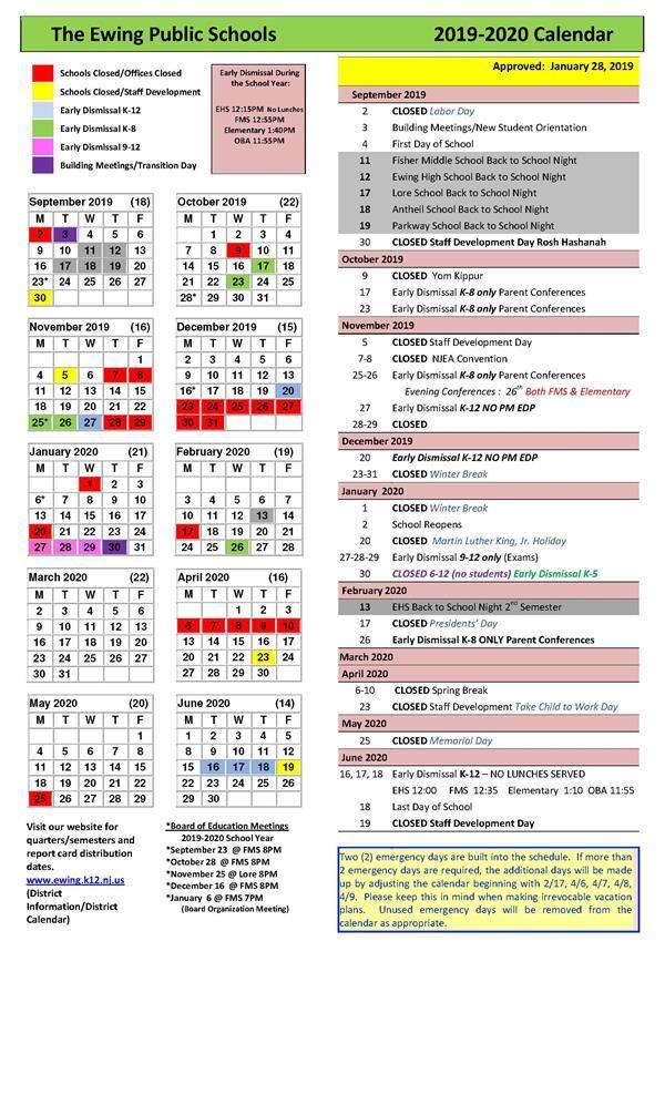nyc public school calendar 2020